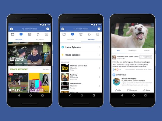 Facebook Watch Inline