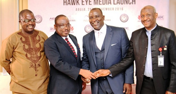 At the Hawk Eye launch ceremony