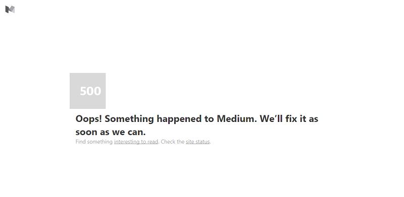 Medium is Down