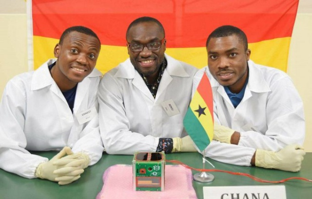 GhanaSat-1 was built by a team of engineers made up of Benjamin Bonsu, Ernest Teye Matey and Joseph Quansah