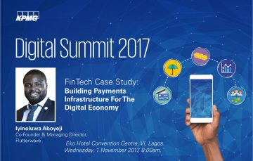 Meet FinTech Giants, Iyinoluwa Aboyeji, Shola Akinlade at #KPMGDigitalSummit