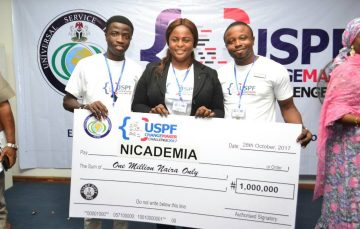 Nicademia Wins 1 Million Naira Prize at the USPF Changemaker Challenge