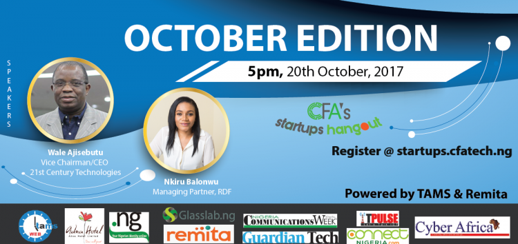 Meet Wale Ajisebutu and Nkiru Balonwu at the CFA's Startups Hangout this Friday