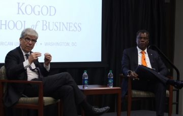 Austin Okere Interviews Paul Romer, World Bank Chief Economist at GBSN Conference
