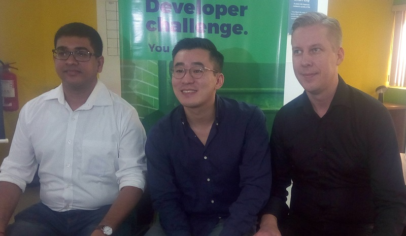 Priyam Bose,Director and Head of Global developers & Startup Relations; Kim fai Kok, director of Communications and Ted Nelson, chief Commercial Officer all of Truecaller at the launch of Truecaller Developer Program in Lagos yesterday