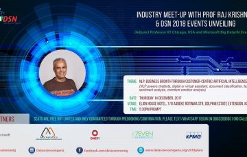 Meet Microsoft Big Data Evangelist, Prof Raj Krishna at the Data Science Nigeria Industry Meet Up