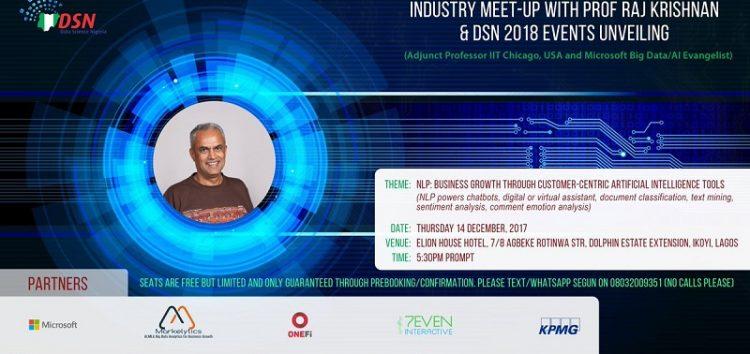 Meet Microsoft Big Data Evangelist, Prof Raj Krishna at the Data Science Nigeria Industry Meet Up