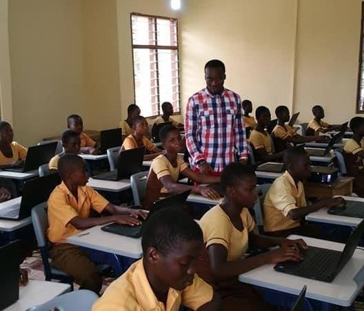 Remember the Ghanas Teacher That Drew Microsoft Word on a Blackboard-He Now Has a New classroom 1