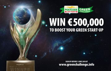 Join the Postcode Lottery Green Challenge 2018 for 500,000 Euros Seed Fund