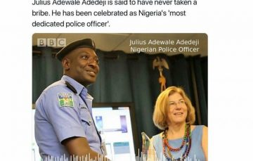 Social Media Roundup: The Nigerian Policeman Who Has Never Collected a Bribe