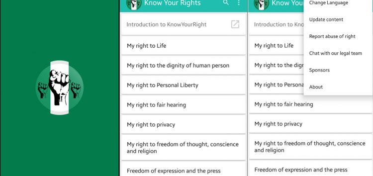 Gain Access to Over 50 Human Rights Lawyers with the Know Your Rights Nigeria App
