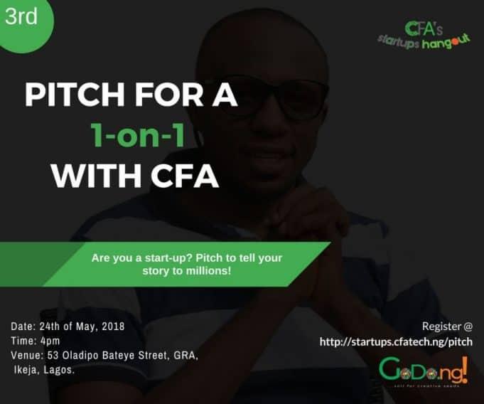 Popular Tech Blog, CFATech, Announces Startup Pitch Session