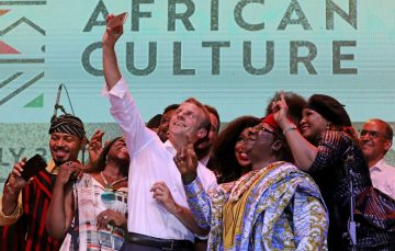 Weekly Roundup:  French President Emmanuel Macron Visits Fela's New Afrika Shrine