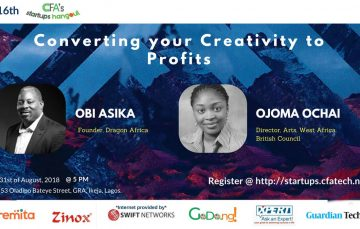 The 16th Edition of the CFA's Startups Hangout to Feature Ojoma Ochai and Obi Asika