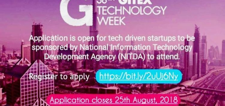 Nigerian Tech Startups Can Now Apply to Get Sponsored to the 2018 GITEX Technology Week in Dubai