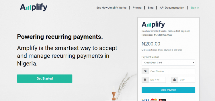 Nigeria's Amplified Payment System Joins Dubai-based FinTech HIVE 2018 Accelerator Program