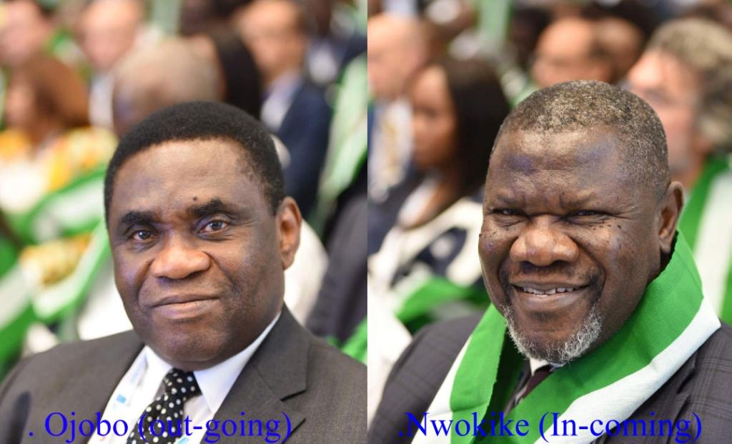 Immediate Past, Tony Ojobo (Left) and Incoming Nnamdi Nwokike (Right)