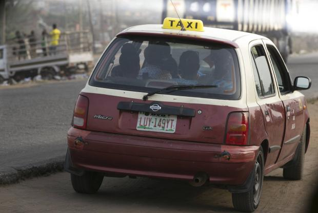 Regular Taxi (Cabu-cabu in local parlance) available in Ibadan.