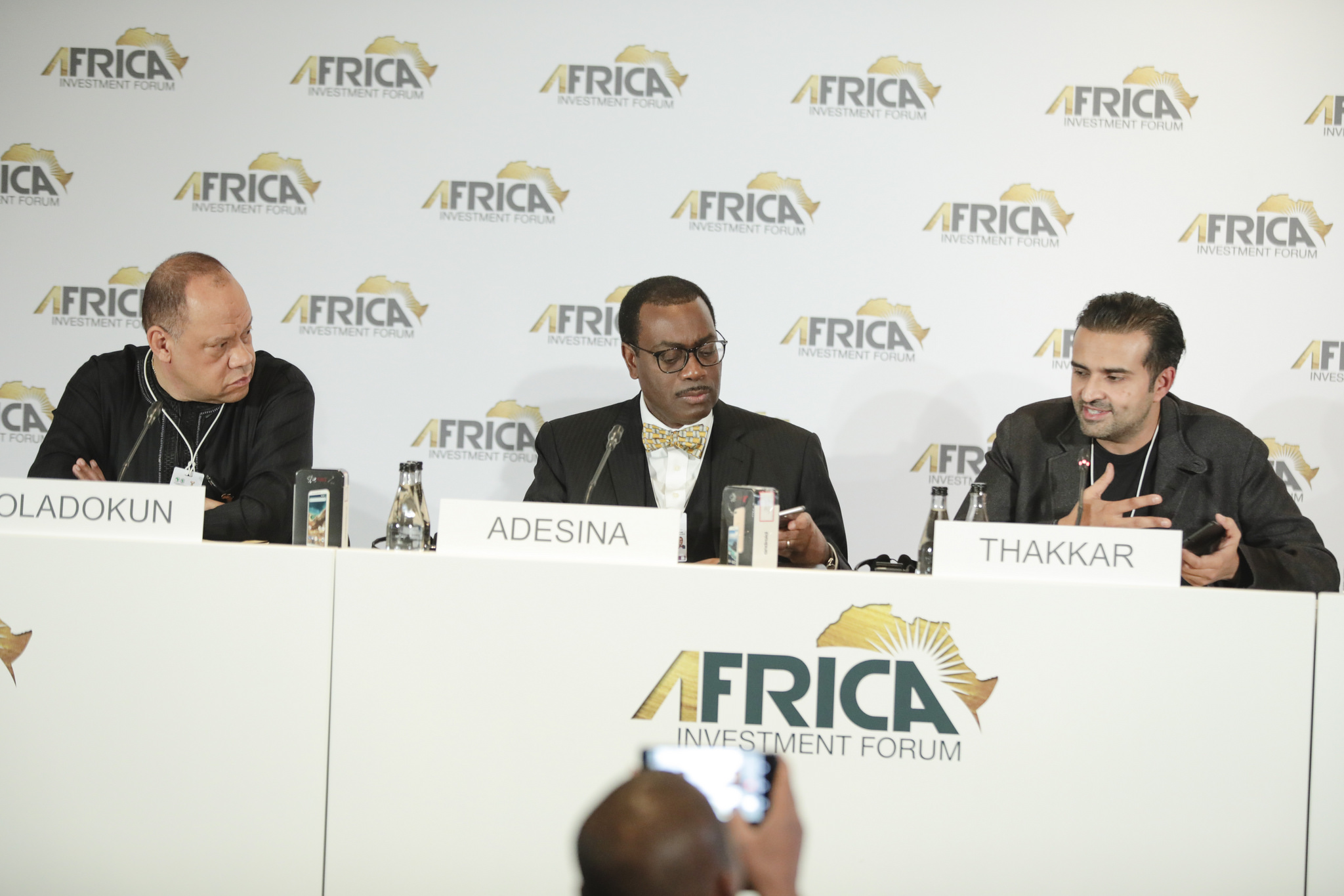 Unveiling the product, Maraphone, at the just concluded Africa Investment Forum