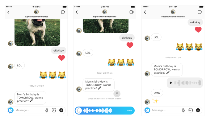 Instagram Introduces Walkie Talkie Style Voice Messaging for Users