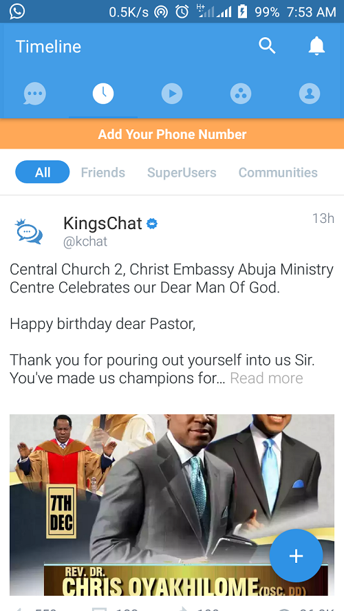 Meet KingsChat, Christ Embassy's Chatting App That Now has 2 Million Users!
