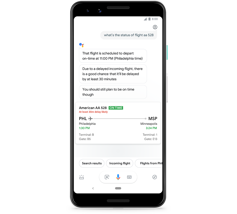 Google Assistant Can Now Predict The Odds That Your Next Flight Will Be Delayed