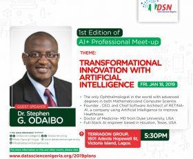 1st Edition of Data Science AI Professional Meetup to Feature Dr Stephen Odaibo, CEO Retina AI