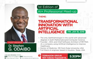 1st Edition of Data Science AI Professional Meetup to Feature Dr Stephen Odaibo, CEO Retina AI