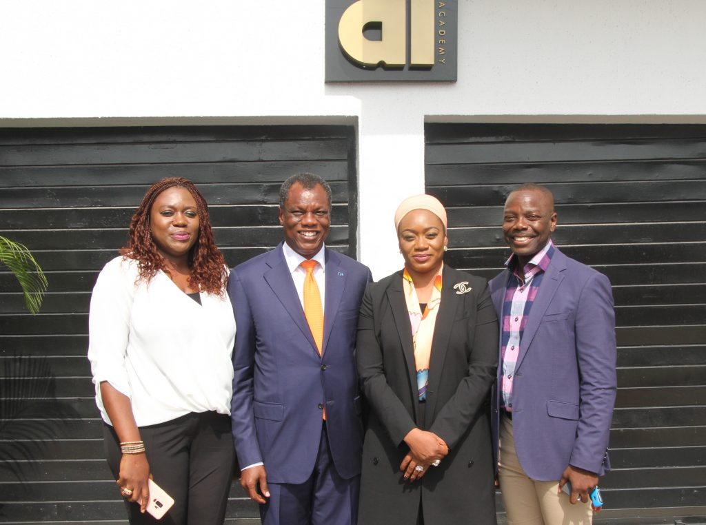 L-R Mrs Tosin Adefeko, Chief Executive Officer, At3 Resources, Mr Austin Okere, Founder and Chief Executive Officer, Ausso Leadership Academy, Mrs Aishah Ahmad, Deputy Governor, Central Bank of Nigeria at the Ausso Leadership Academy