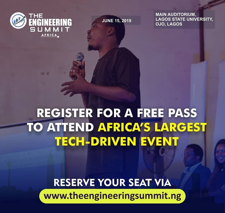 Free Registration Currently Open for the Engineering Summit Africa Holding in Lagos