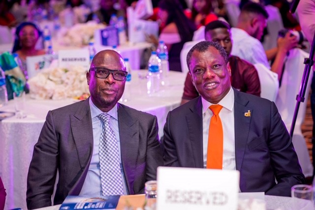Austin Okere With Tunde Falawiyo at the 3rd ACT Foundation breakfast dialogue in Lagos