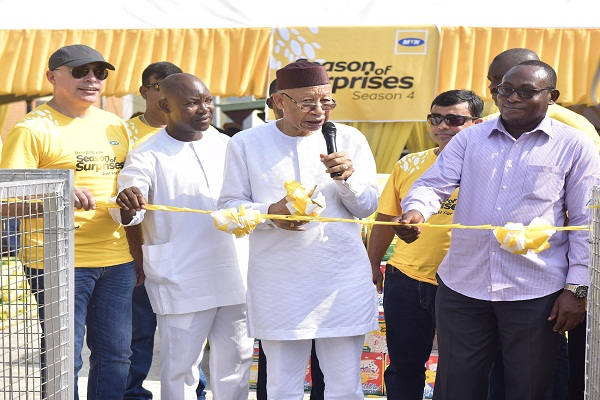Pascal Dozie and others  at the launch of the 4th edition of MTN Season of Surprises at Ikoyi, Lagos
