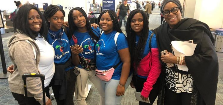 5 Nigerian Girls Compete at the Technovation Awards Finals for Developing Handsout, an Educational App