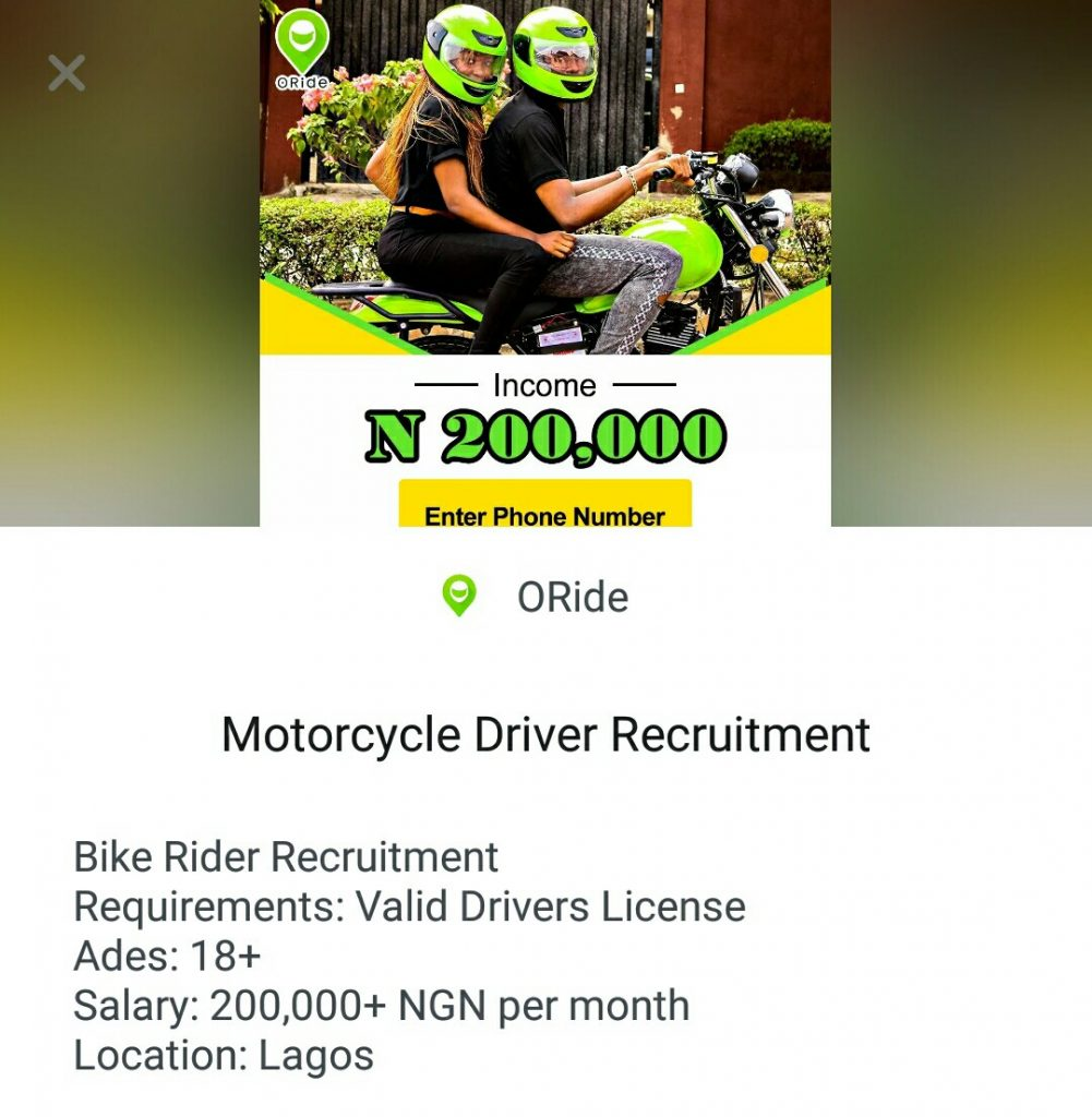 Exclusive: Despite N200,000 Salary Promise Oride May be Exploiting its Riders and Customers Are Paying For it
