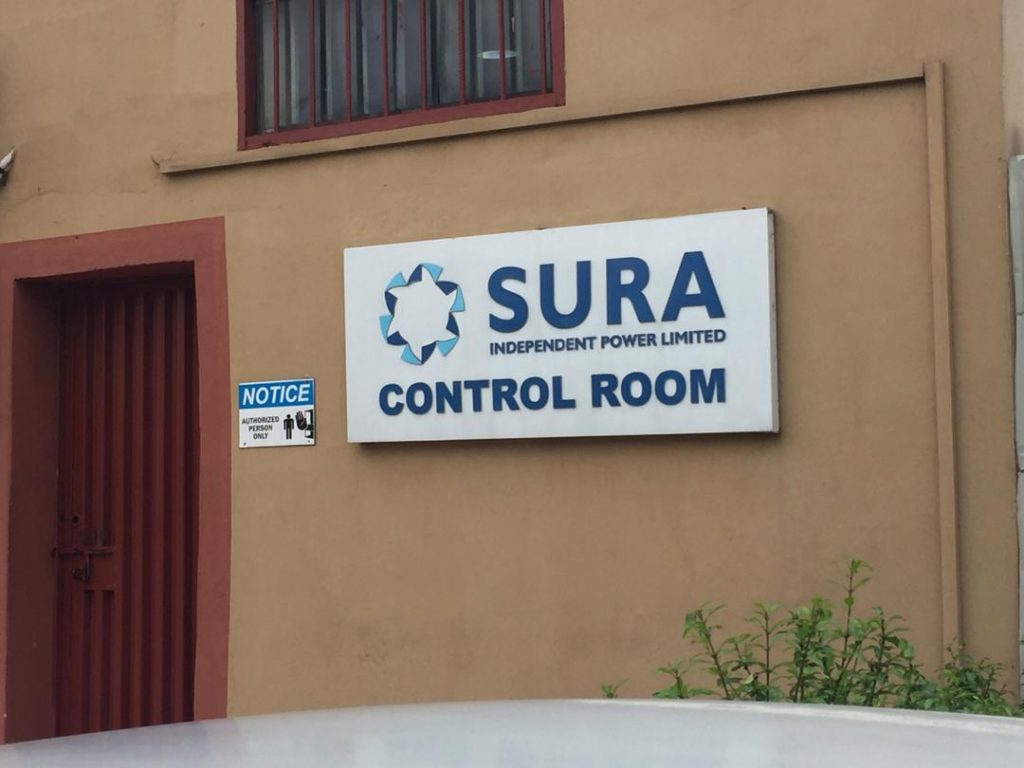 The Sura Shopping Complex IPP control room entrance...