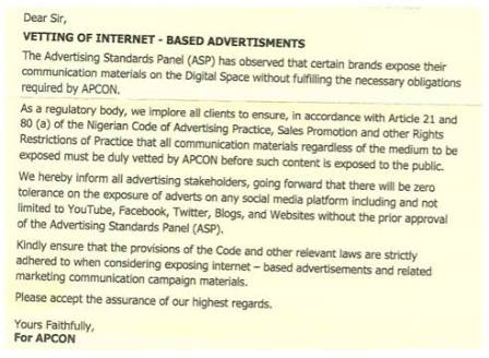 Social Media Advertisers React as APCON Regulates Online Advertising