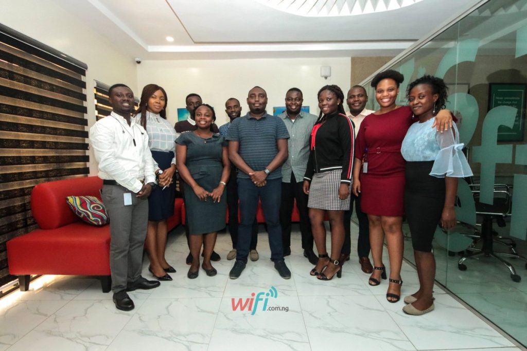 New members of staff during a photo session with Tizeti Networks