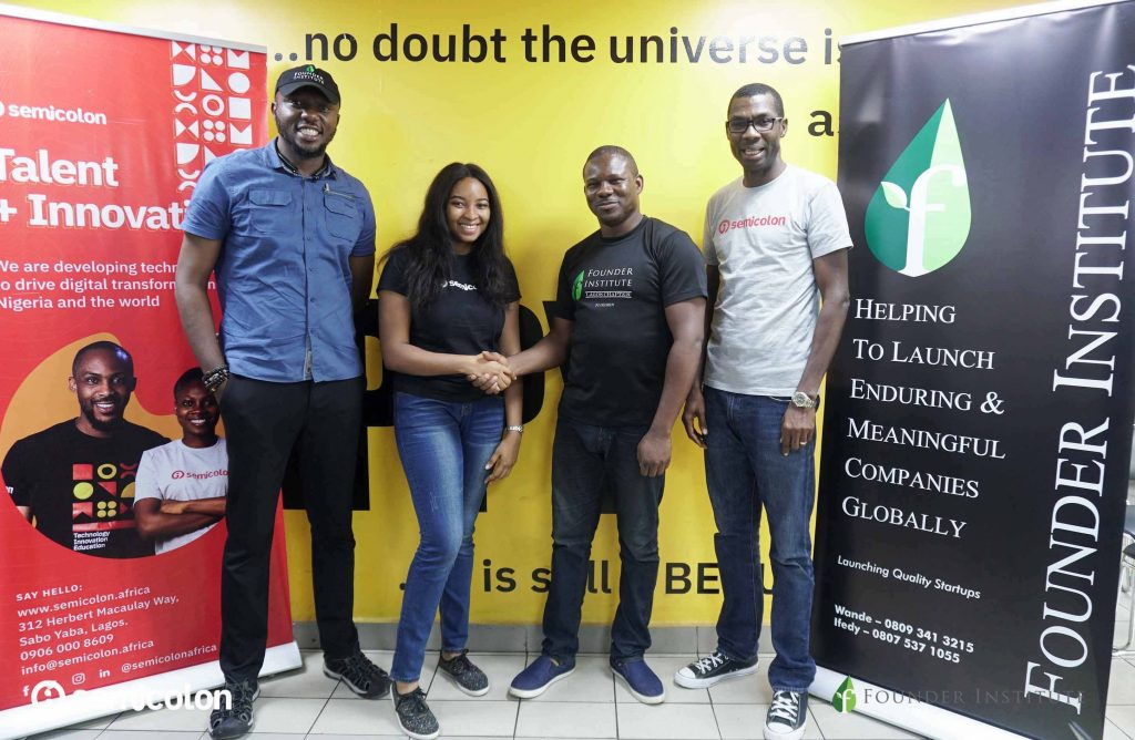 CFA, Regional Director, Founder Intitute Lagos, Uzo Uba, Comm Mgr, Semicolon, Wande Adalemo, Lead Director, Founder Institute Lagos & Sam Immanuel, CEO, Semicolon