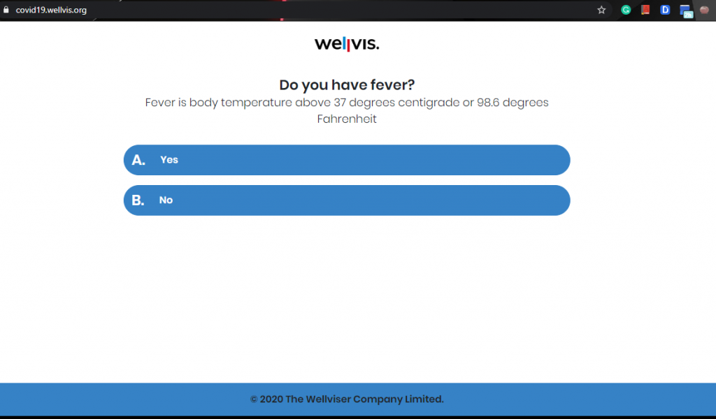 Wellvis's COVID-19 Triaging App Determines Your Risk of Having Coronavirus