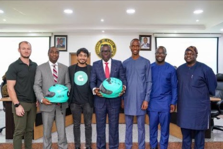 When the executives of Gokada paid the Lagos Governor, Sanwoolu and his deputy a visit