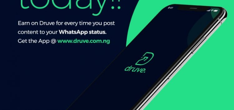 New Startup, Druve Will Help You Earn Money from Sharing Contents on Your WhatsApp Status