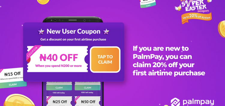 PalmPay Offers Users 20% Off Airtime Purchases with the PalmPay Payment App