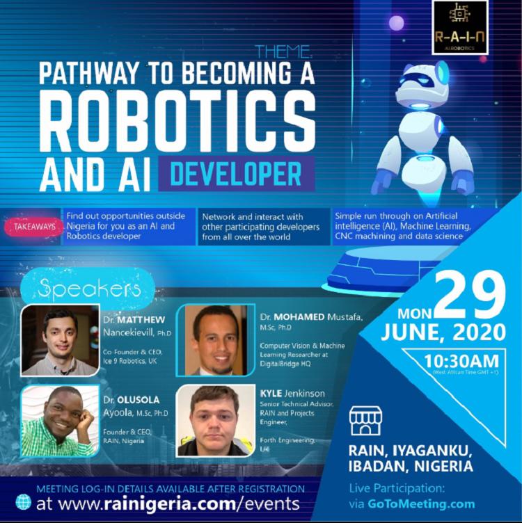 Online Events: Robotics and AI Developer Webinar, Child Online Safety Webinar