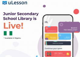 Edtech Startup uLesson Education Introduces Junior Secondary School Library