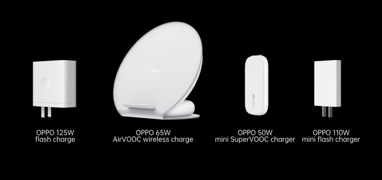 OPPO Unveils 125W Flash Charge, 65W Airvooc Wireless Flash Charge And 50W Mini Supervooc Charger