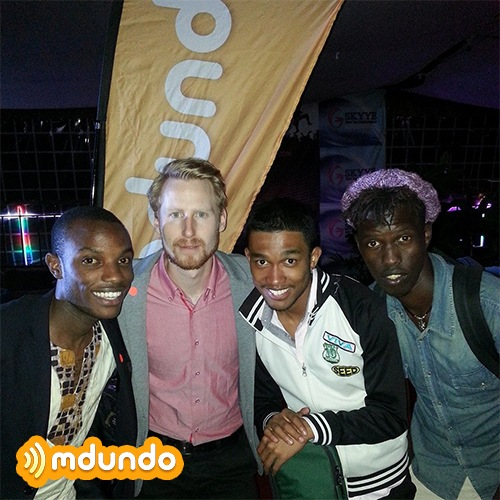 Martin Nielsen, Mdundo CEO and co-founder at an event