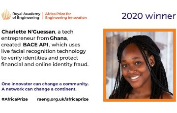 Ghana's Charlette N'Guessan Wins £25,000 Africa Prize for Engineering Innovation 2020