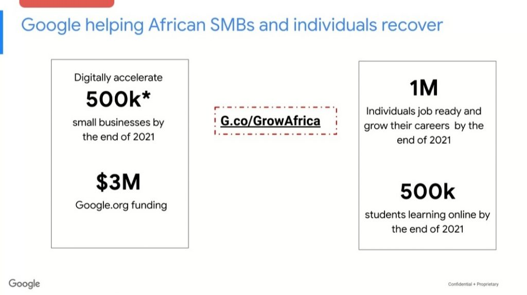 GOOGLE supports 500,000 SMBs and 25,000 teachers