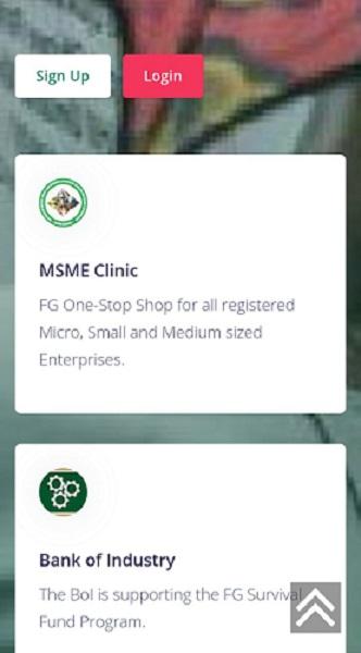 Screenshot of Survival fund portal