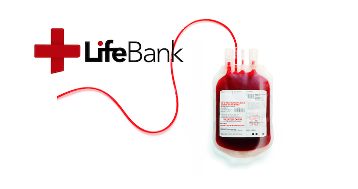 LifeBank image with a blood bank